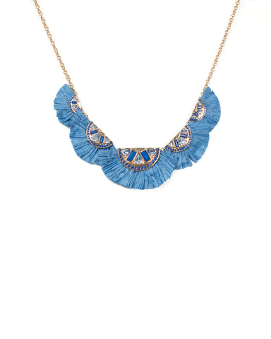 Diamante Raffia Statement Necklace