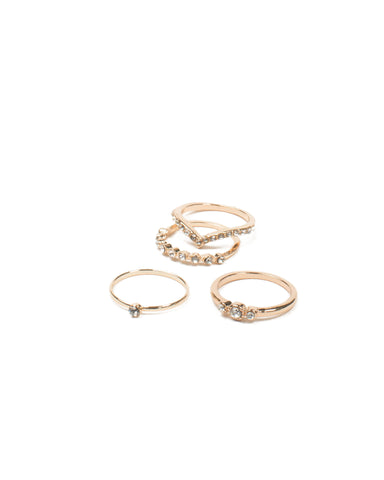 Diamante Metal Ring Pack - Medium