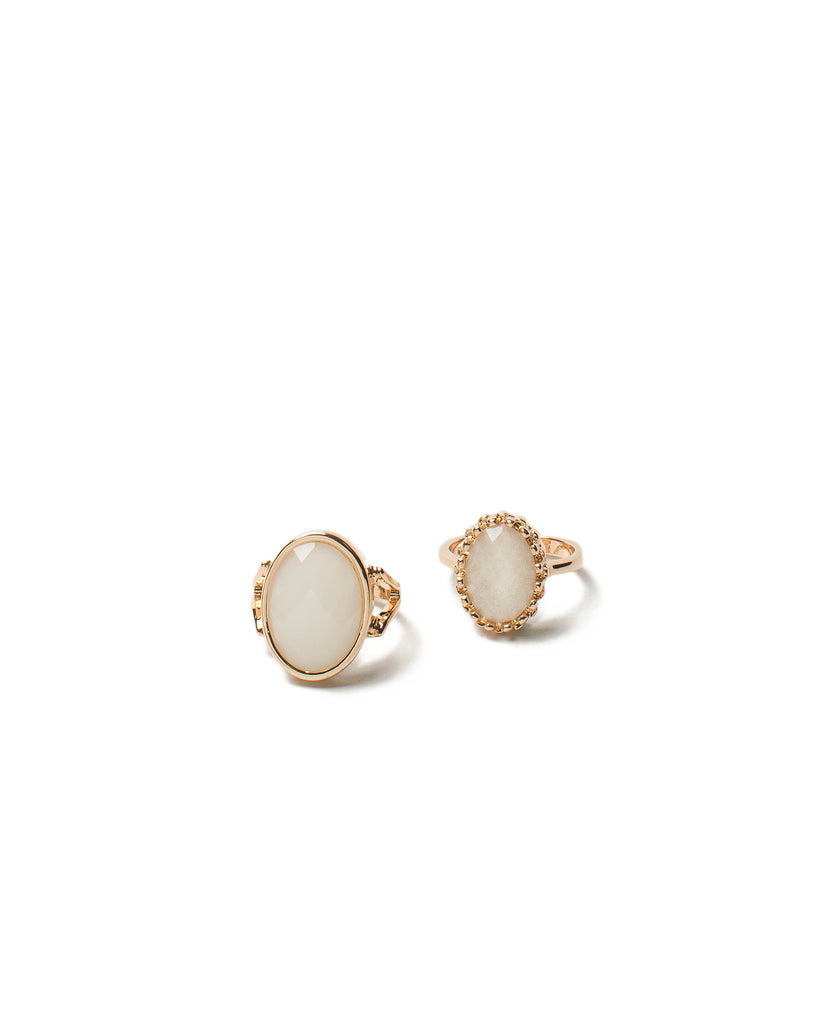 Stone Cocktail Ring Set - Large