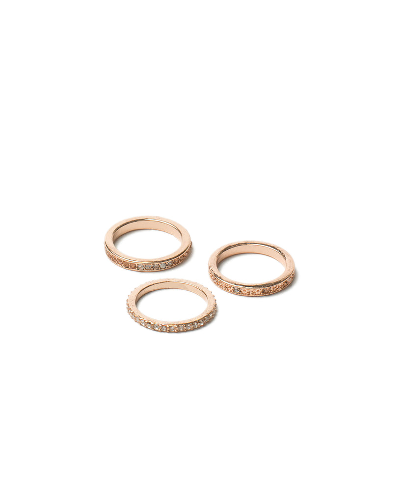Diamante Band Ring Pack - Medium