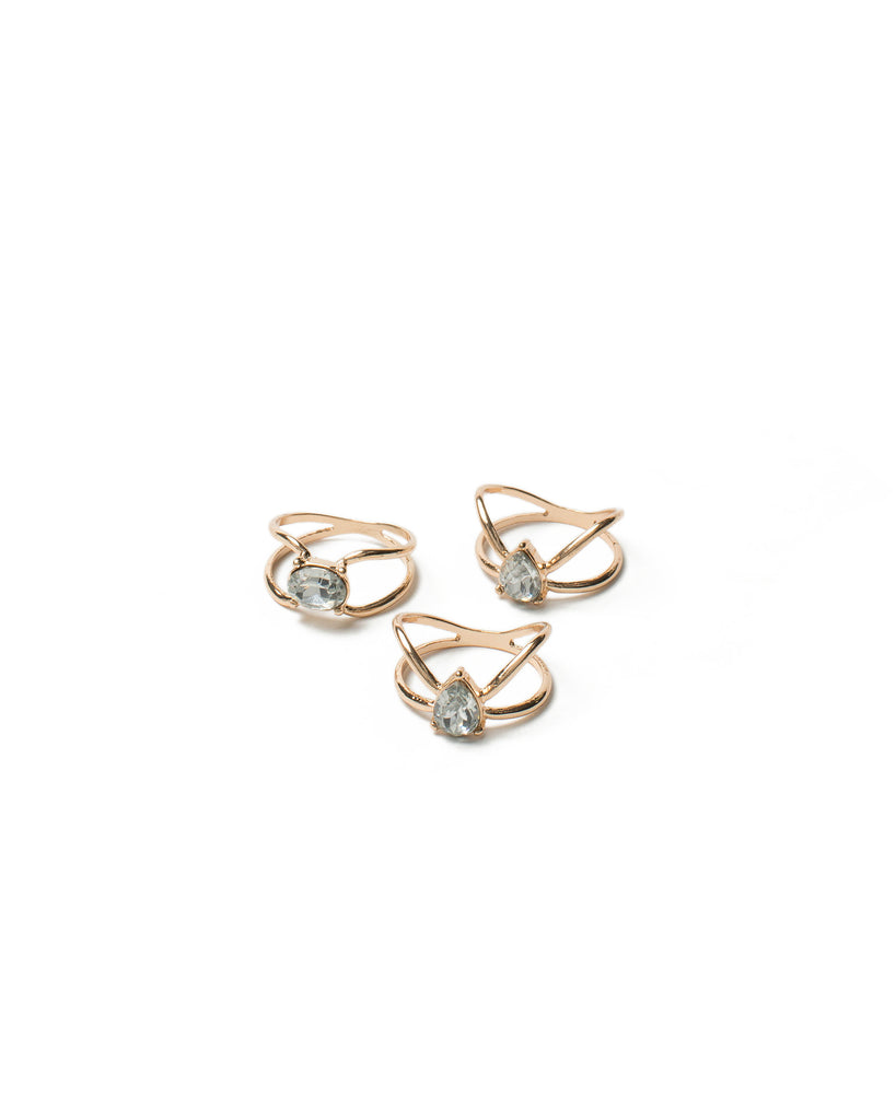 Center Stone Wrap Ring Pack - Large