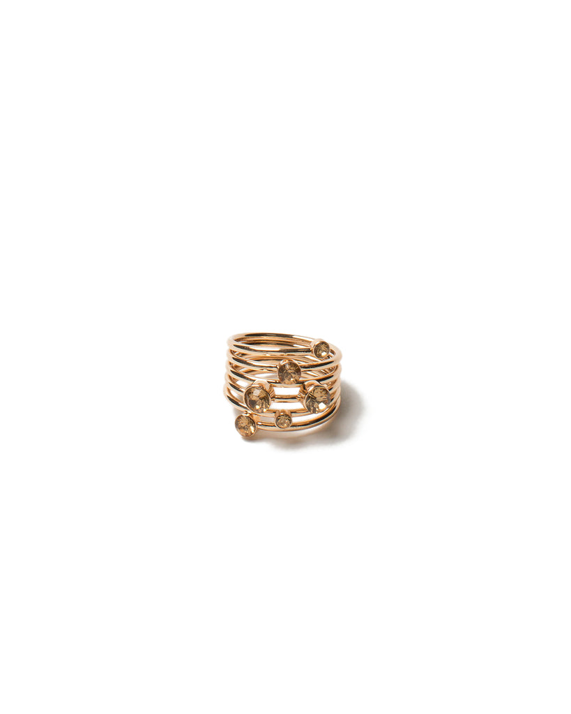 Multi Band Stone Ring - Medium