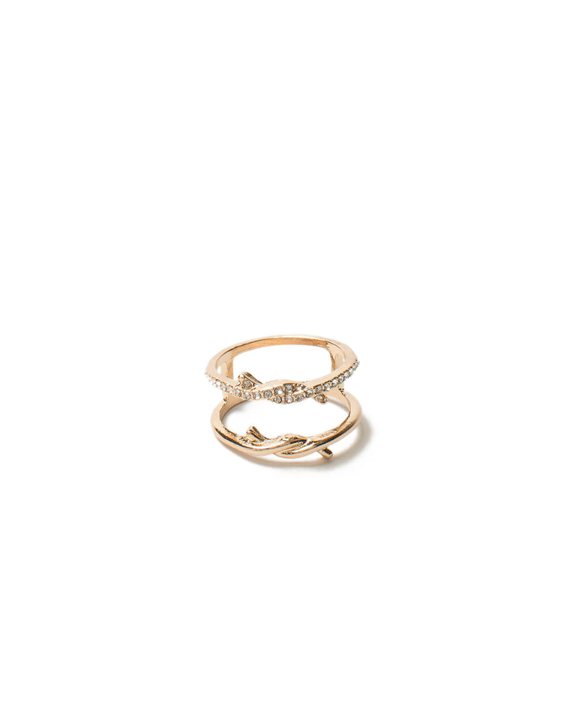 Twist Double Band Ring - Large