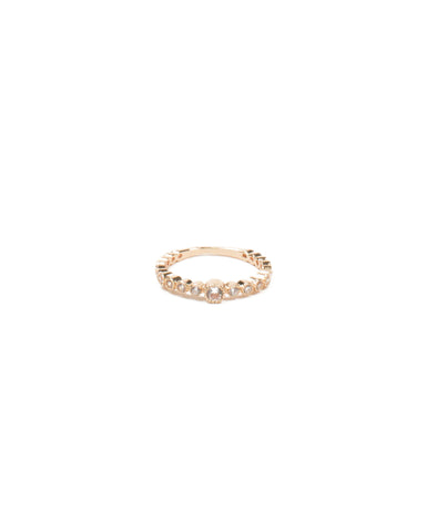 Gold Gradual Stone Ring - Large