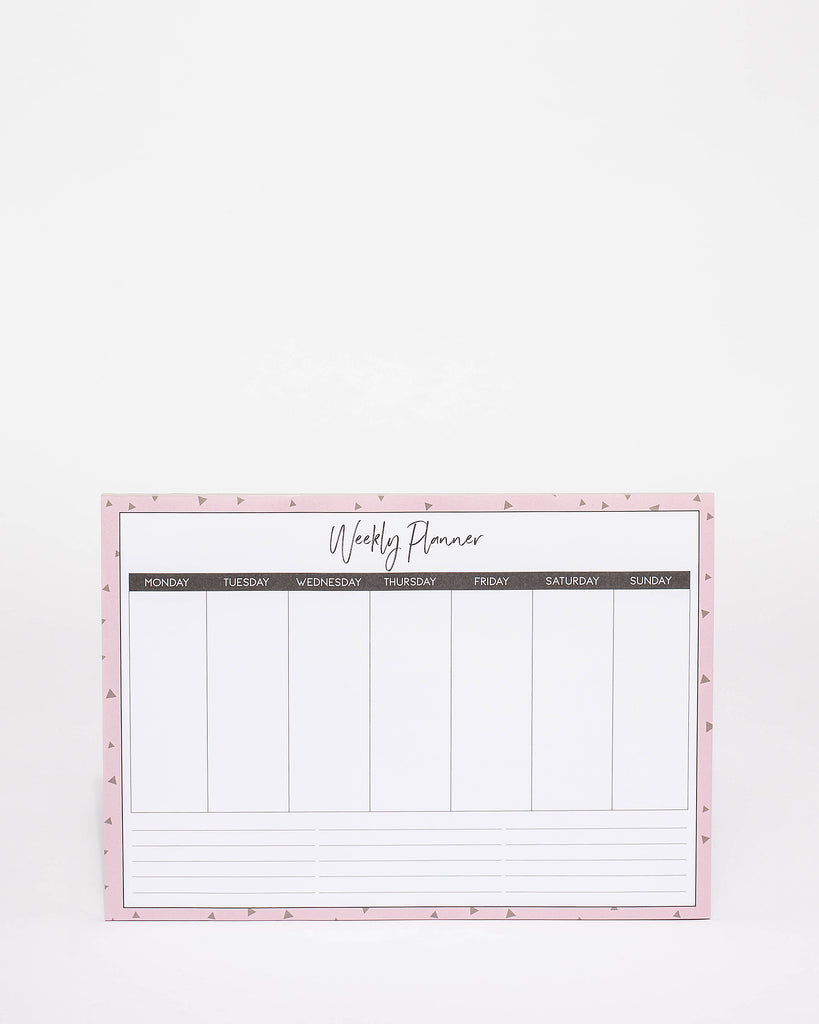 Pink A4 Weekly Planner