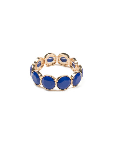 Blue Round Stone Stretch Wristwear