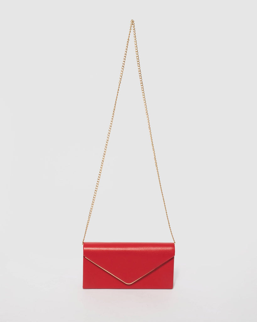 Red Vanessa Eve Clutch Bag