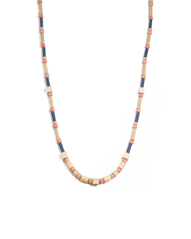 Multi Colour Gold Tone Craft Bead Long Necklace