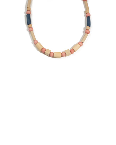 Multi Colour Gold Tone Craft Bead Mini Necklace
