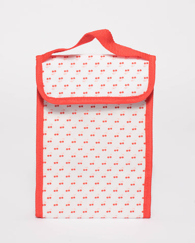 Red Cherry Pattern Lunch Cooler Bag