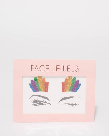 Multi Colour Glitter Face Stickers
