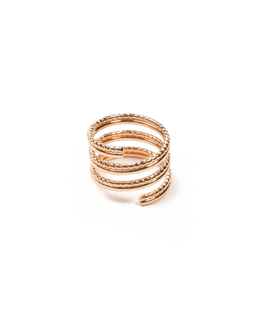 Gold Tone Spiral Ring Rope - Large