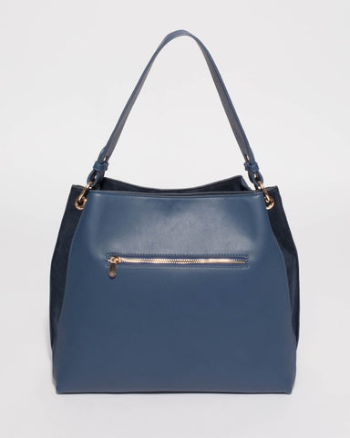 Blue Sienna Slouch Tote Bag