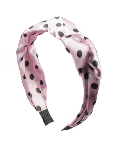 Pink Dot Hair Knotted Headband