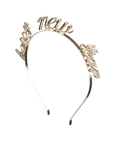 Gold Happy New Year Metal Headband