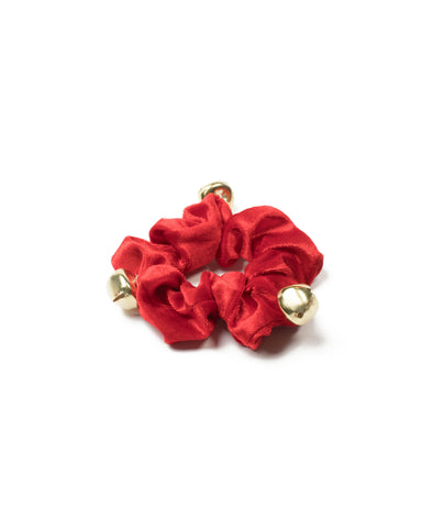 Red Jingle Bells Scrunchie