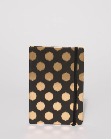 Black Metallic Polka Dot Note Book