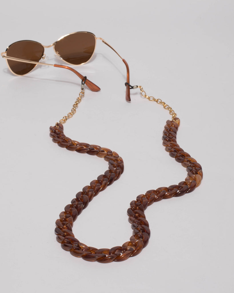 f9549d7b42a Brown Acrylic Sunglasses Chain – Colette by Colette Hayman