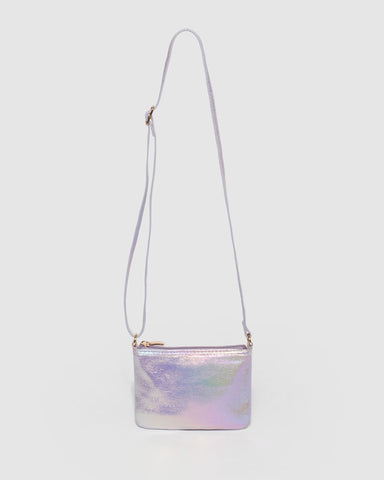 Purple Iridescent Kids Raine Crossbody Bag