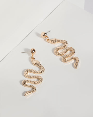 colette by colette hayman gold snake drop earrings