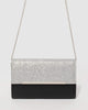 Colette by Colette Hayman Black and Silver Harriet Clutch Bag
