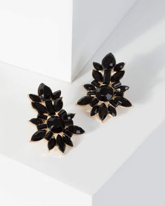 Colette by Colette Hayman Black Crystal Cluster Stud Earrings