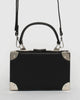 Colette by Colette Hayman Black Kendall Lock Trunk Bag
