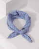 Colette by Colette Hayman Blue Check Detail Fabric Hair Tie