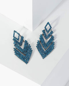 Colette by Colette Hayman Blue Crystal Arrow Drop Earrings