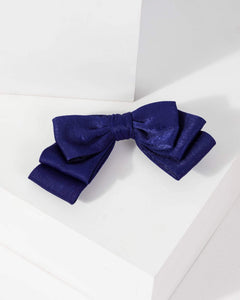 Colette by Colette Hayman Blue Medium Hair Bow with Clip