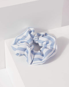 Colette by Colette Hayman Blue Stripe Print Scrunchie