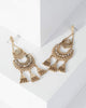 Colette by Colette Hayman Gold Antique Crystal Statement Stud Earrings