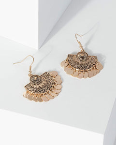 Colette by Colette Hayman Gold Antique Detail Small Circle Earrings