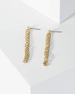 Colette by Colette Hayman Gold Chain Link Drop Earrings