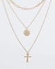 Colette by Colette Hayman Gold Cross And Medallion Necklace