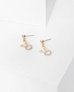 Colette by Colette Hayman Gold Crystal Bunny Stud Earrings