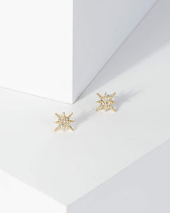Colette by Colette Hayman Gold Crystal Star Stud Earrings