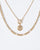 Colette by Colette Hayman Gold Double Layer Pendant Necklace