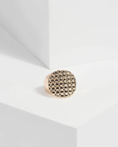 Colette by Colette Hayman Gold Embossed Signet Ring