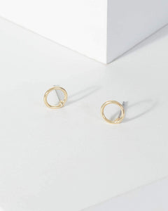 Colette by Colette Hayman Gold Fine Circle Stud Earrings