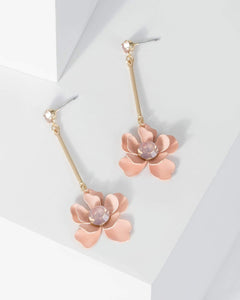 Colette by Colette Hayman Gold Flower Drop Crystal Earrings
