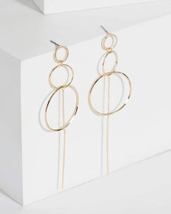 Colette by Colette Hayman Gold Grad Ring Drop Earrings