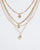 Colette by Colette Hayman Gold Heart Lock Dice 4 Layer Necklace