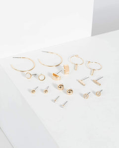 Colette by Colette Hayman Gold Metal Multi Mixed Earrings Pack