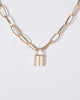Colette by Colette Hayman Gold Metal Padlock Necklace