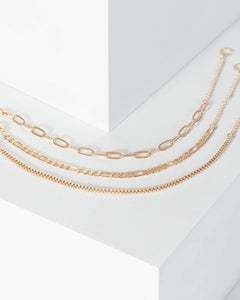 Colette by Colette Hayman Gold Multi Chain Bracelet Pack