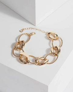 Colette by Colette Hayman Gold Multi Linked Chain Bracelet