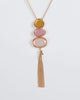 Colette by Colette Hayman Gold Multi Stone Chain Tassel Detail Necklace
