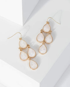 Colette by Colette Hayman Gold Multi Teardrop Drop Earrings