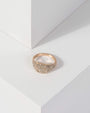 Colette by Colette Hayman Gold Pave Square Band Ring